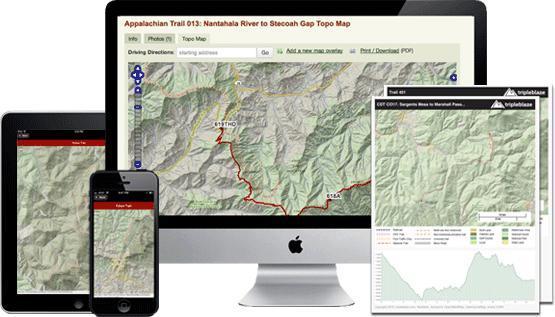 Sylco Campground trail topo map || Tripleblaze com Camping
